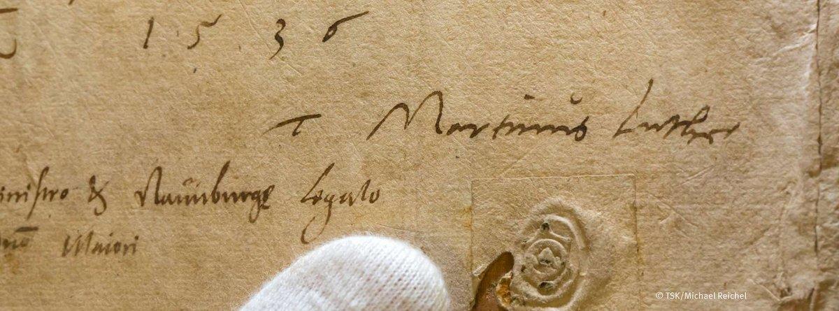 Aufnahme des Lutherbrief an Justus Jonas aus dem Jahr 1536