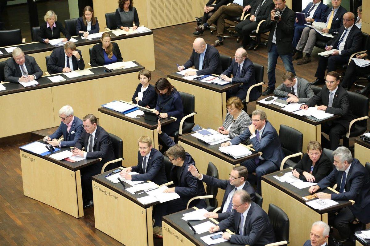 Das Plenum des Bundesrats von innen.