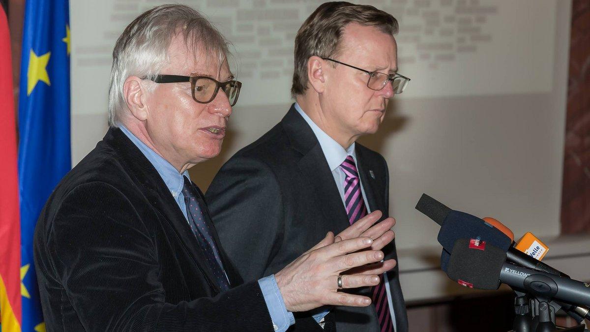 Prof. Dr. Heinrich Best (links) und Ministerpräsident Bodo Ramelow