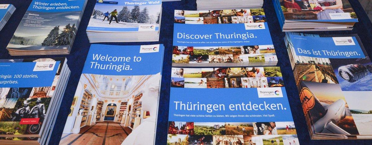 Prospekte über Thüringen