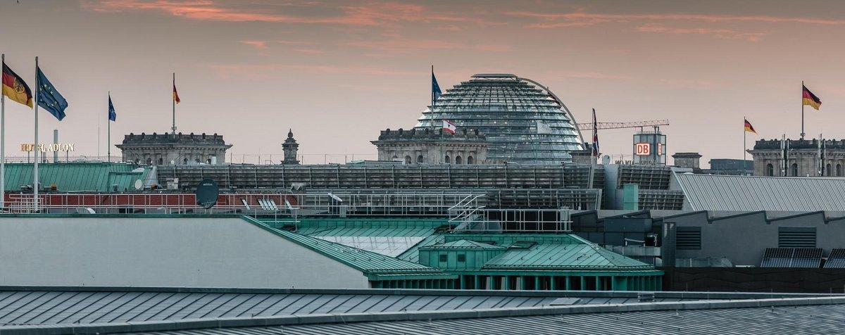 Ausblick von der Dachterrasse der Landesvertretung in Berlin.