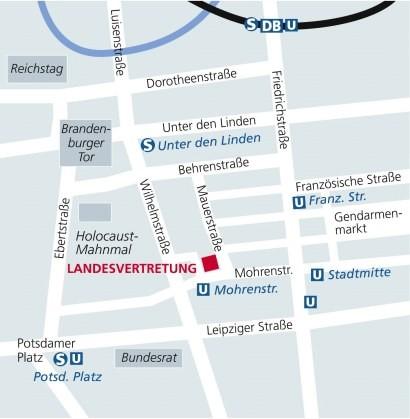 Anfahrtsskizze Landesvertretung Berlin